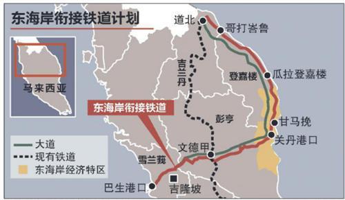 马来西亚东海岸重要城镇和西海岸的经济中心相连,构建马来半岛东西